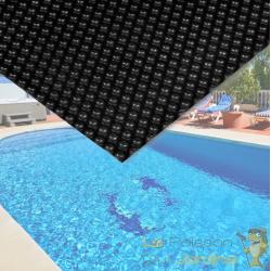 Bâche De Piscine Rectangulaire Isolante 140 microns - Noire - 4 x 6 m