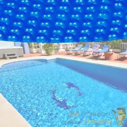 Bâche De Piscine Rondeisolante 140 microns - Bleue - Diamètre 3,6 m