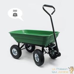 Chariot à main inclinable pour le jardin ou autres transports 300 kg -