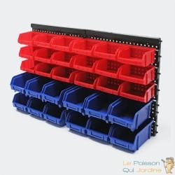 Étagère bacs de rangements vis, clous 30 boîtes
