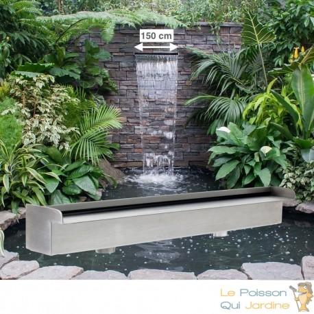 Cascade - Lame D'Eau 150 cm Inox Pour Bassin De Jardin