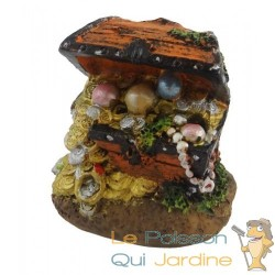 Coffre à Bijoux Et or pour Aquarium avec Tuyau et Diffuseur