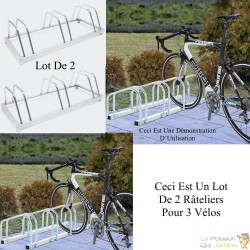 Rangement - râtelier 3 vélos avec fixation au sol - Rack 1 niveau - 030180