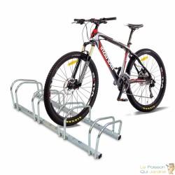 Rangement, Râtelier 4 Vélos, Fixation Sol, Longueur 96cm, 1 niveau