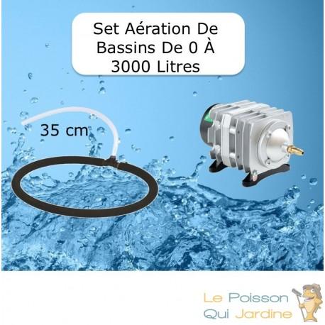 Set aération Diffuseur Poreux 35 cm pour bassin de jardin de max. 3 m³