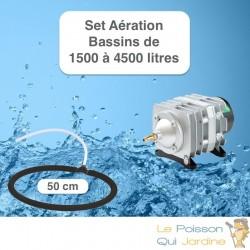 Set aération Diffuseur Poreux 50 cm pour bassin de jardin de max. 4,5 m³