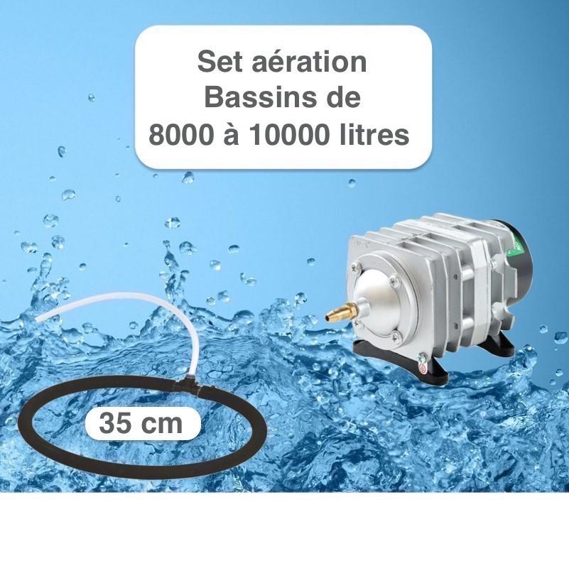 Set aération Diffuseur Poreux 35 cm pour bassin de jardin de max. 10 m³