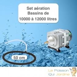 Set aération Diffuseur Poreux 50 cm pour bassin de jardin de max.12 m³