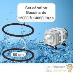 Set aération 2 Diffuseurs Poreux 50 cm pour bassin de jardin de max.14 m³