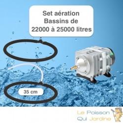 Set aération Diffuseur Poreux 35 cm pour bassin de jardin de max.10 m³