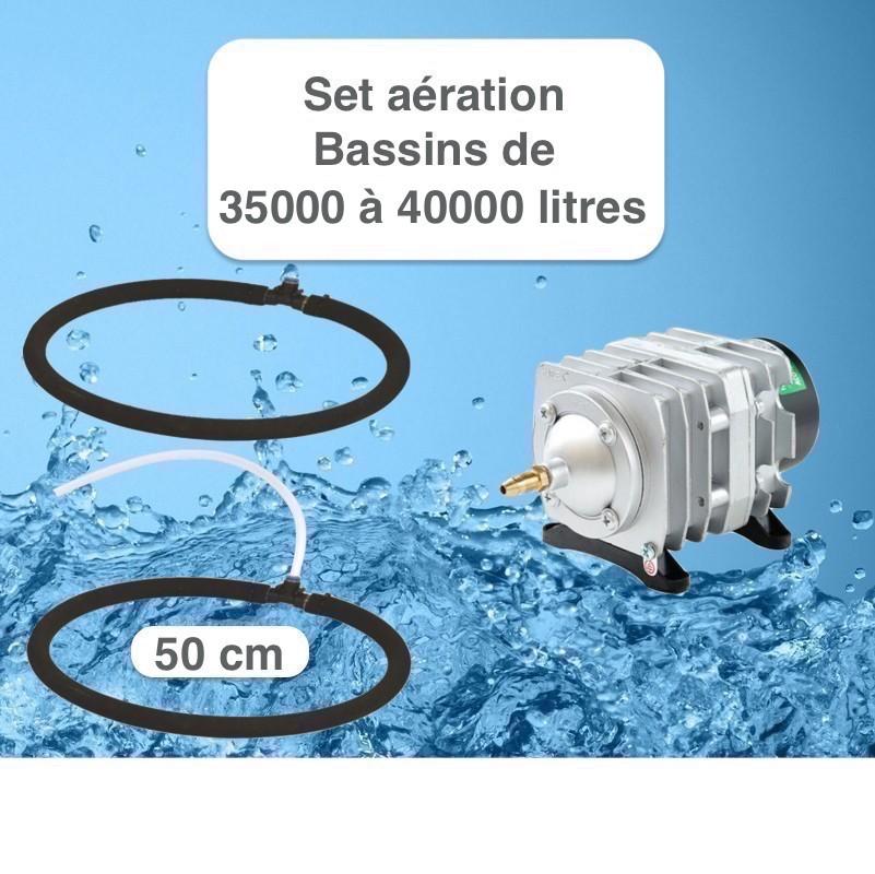 Set aération 2 Diffuseurs Poreux 50 cm pour bassin de jardin de max. 40 m³