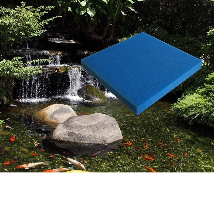 Mousse Bleue : 50 X 50 X 5 fine pour filtration bassin et aquariums 30 ppi