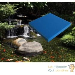 Mousse Bleue : 50 X 50 X 10 alvéolage fin pour bassin et aquariums 20 ppi