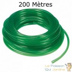 200 mètres de tuyau VERT 4/6 mm pour pompe à air aquarium et bassin