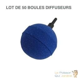 50 Diffuseurs d'air ( boule ) sphèriques pour aérer les bassins de jardin : 5 cm