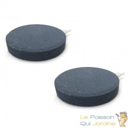 Lot de 2 diffuseurs d'air plaque ronde 10 cm pour bassins de jardin