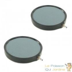 Lot de 2 diffuseurs d'air disques 20 cm pour bassins de jardin
