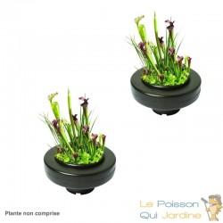 Lot de 4 Paniers flottants 30 cm de diamètre pour plantes de bassins de jardin et étangs