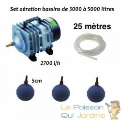Set aération bassin de jardin de 3000 à 5000 litres