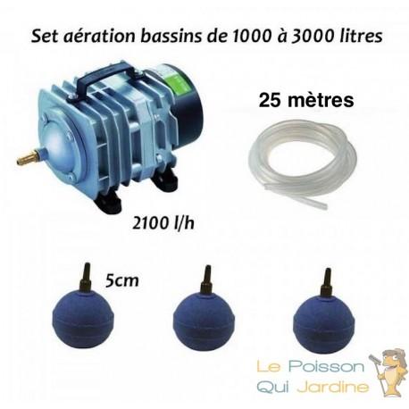 Set aération bassin de jardin de 1000 à 3000 litres. Tout inclus. Meilleure Vente