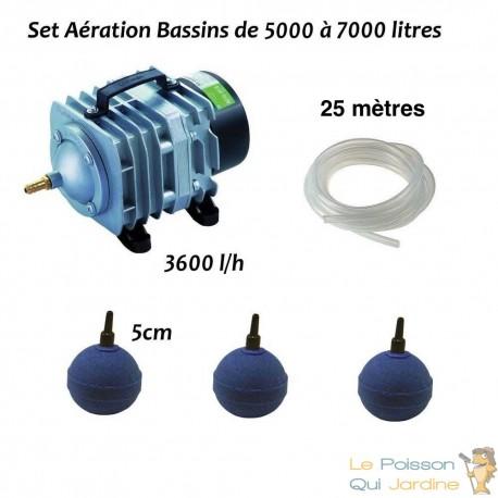 Set aération bassin de jardin de 5000 à 7000 litres