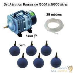 Set aération bassin de jardin de 15000 à 20000 litres
