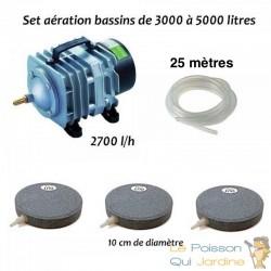 Set aération N2 bassin de jardin de 3000 à 5000 litres