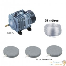 Set aération bassin de jardin 3 plaques 10 cm de 0 à 5000 litres