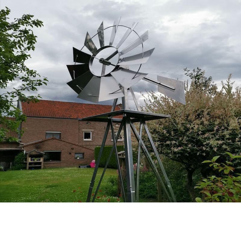 Éolienne Décorative U.S En Métal Pour Jardin, Style Éolienne Américaine