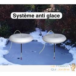 Lot de 2 Systèmes anti gel complet pour bassins de jardin avec pompe fournie