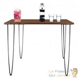 4 Pieds De Table Avec Protection, Noir, 86 cm, Design Loft, Industriel