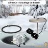 Lot Chauffage Bassin 150W + Set Aération Pompe 8400 l/h 1 diffuseur poreux 50 cm