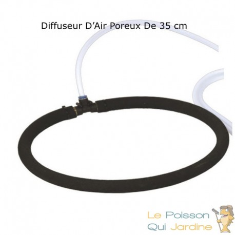 Diffuseur D'Air Poreux 35 cm Pour Bassins De Jardin + Tuyau