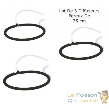 3 Diffuseurs D'Air Poreux 35 cm Pour Bassins De Jardin + Tuyau
