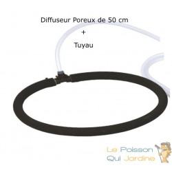 Diffuseur D'Air Poreux 50 cm Pour Bassins De Jardin + Tuyau