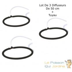 3 Diffuseurs D'Air Poreux 50 cm Pour Bassins De Jardin + Tuyau