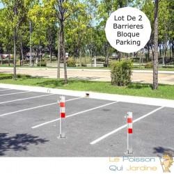 Lot de 2 Barrières bloque parking et de stationnement. 70 cm