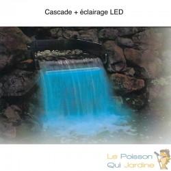 Cascade - lame d'eau avec LED pour décorer votre bassin de jardin