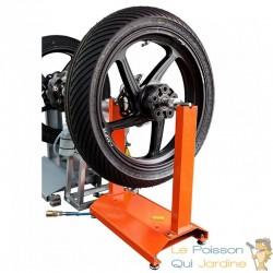 Équilibreuse manuelle pour pneus et jantes motos