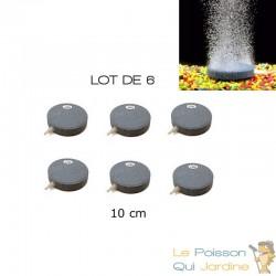 Lot De 6 Diffuseurs D'Air, Forme Disque 10 cm Pour Bassins De Jardin