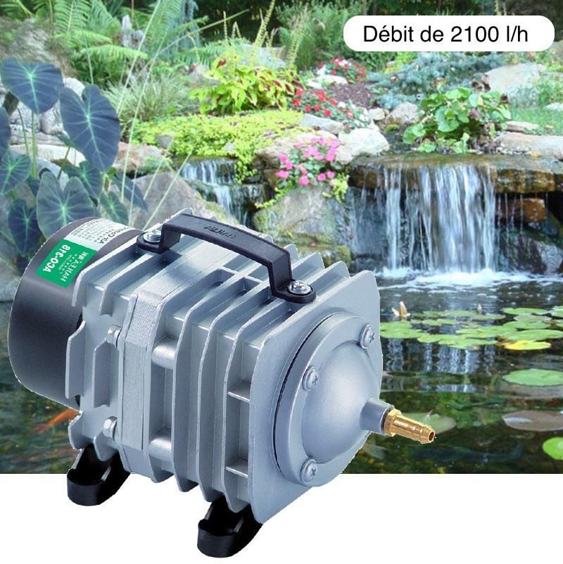 Compresseur - Pompe à air 2100 l/h pour bassins de jardin et étangs