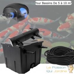 Kit De Filtration, Avec UV 18W, Pour Bassin De Jardin : 5 à 10 m³