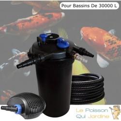 Kit filtre pression complet pour bassins de 30000 l pompe 6000