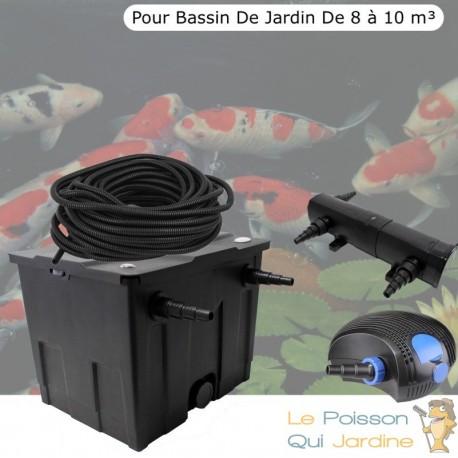Kit De Filtration Complet Avec UV 36W Pour Bassin De Jardin : 8 à 10 m³