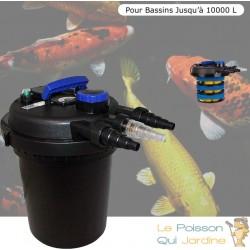 Filtre bassins de jardin sous pression UV 11W jusqu'à 10000 litres