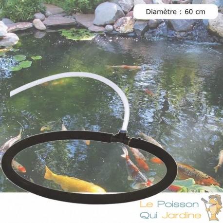 Diffuseur D'Air Poreux 60 cm Pour Bassins De Jardin + Tuyau