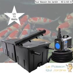 Kit de Filtration, UV 72 W, Pour Bassin De Jardin : 40 à 60 m³