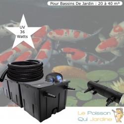 Kit De Filtration Complet, Avec UV 36W, Pour Bassin De Jardin : 20 à 40 m³