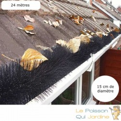 20 Brosses De Protection De Gouttières, Diam : 15 cm, 120 cm de long