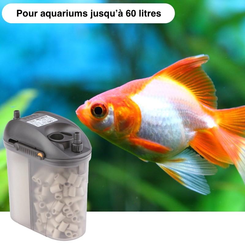 Filtre Extérieur Pour Aquariums De 60 Litres : 300 l/h, Garantie 3 ans